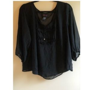 Torrid black see through blouse size 2X